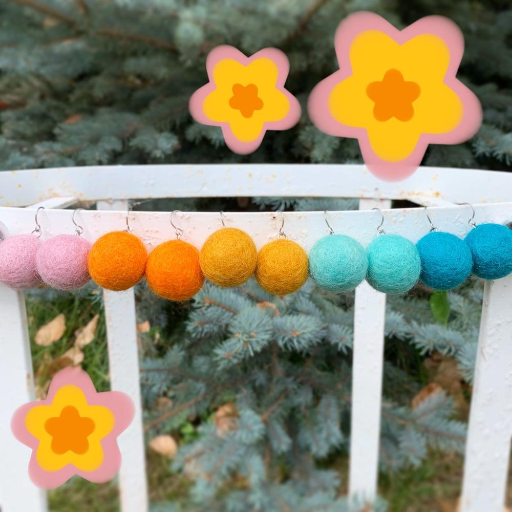Image of Fuzzy Berries Earrings