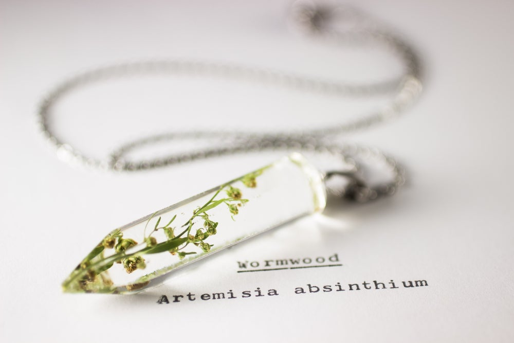 Image of Wormwood (Artemisia absinthium) - Medium Crystalline Pendant #1