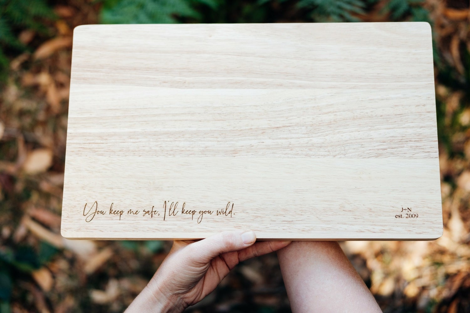 Image of ETCHED TIMBER DATE NIGHT BOARD