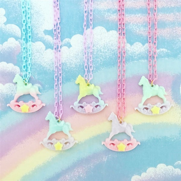 Image of Pastel Rocking Horse Necklace