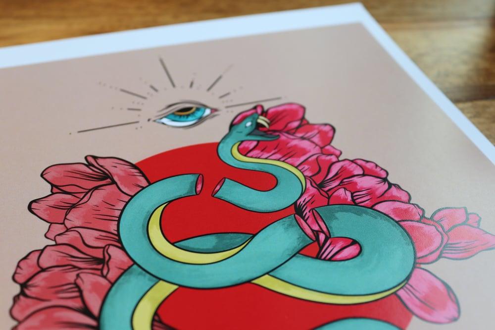 Friend and Foe Snake Art Print