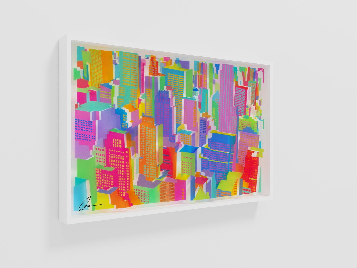Image of Cityscape layered