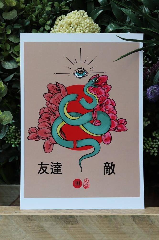 Image of Friend and Foe Snake Art Print