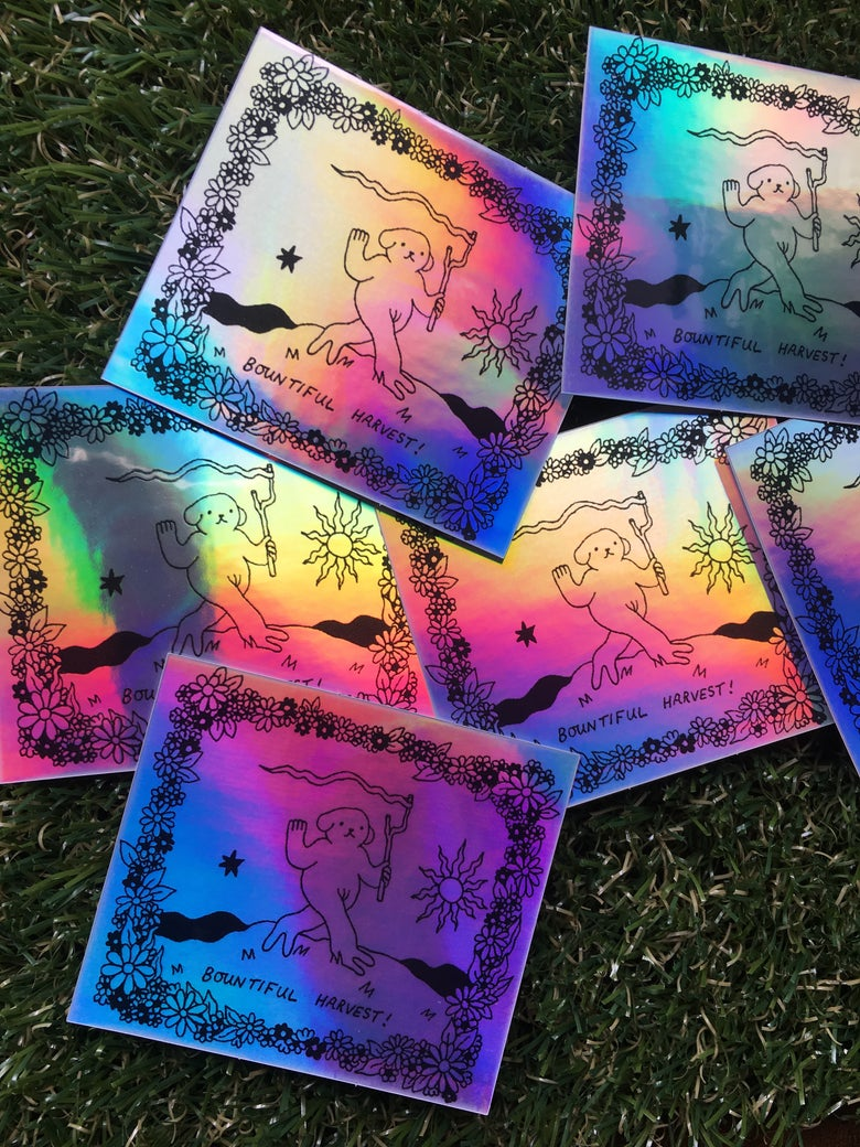 Image of Bountiful Harvest! holographic sticker