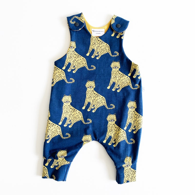 Image of Blue Cheetah Romper