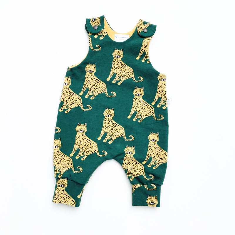 Image of Green Cheetah Romper