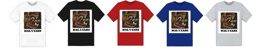 Image of KALVIARI WOLF OF ALL STREETS TSHIRT (5 COLORWAYS)