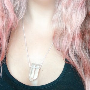 Image of Ancient Ice Necklace - Quartz and Sterling Silver