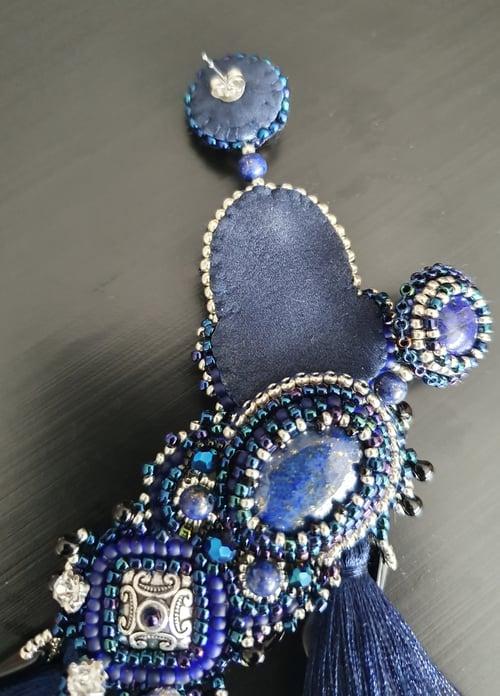 Image of RESERVEES Boucles d'oreilles Lapis Lazuli DEBORAH