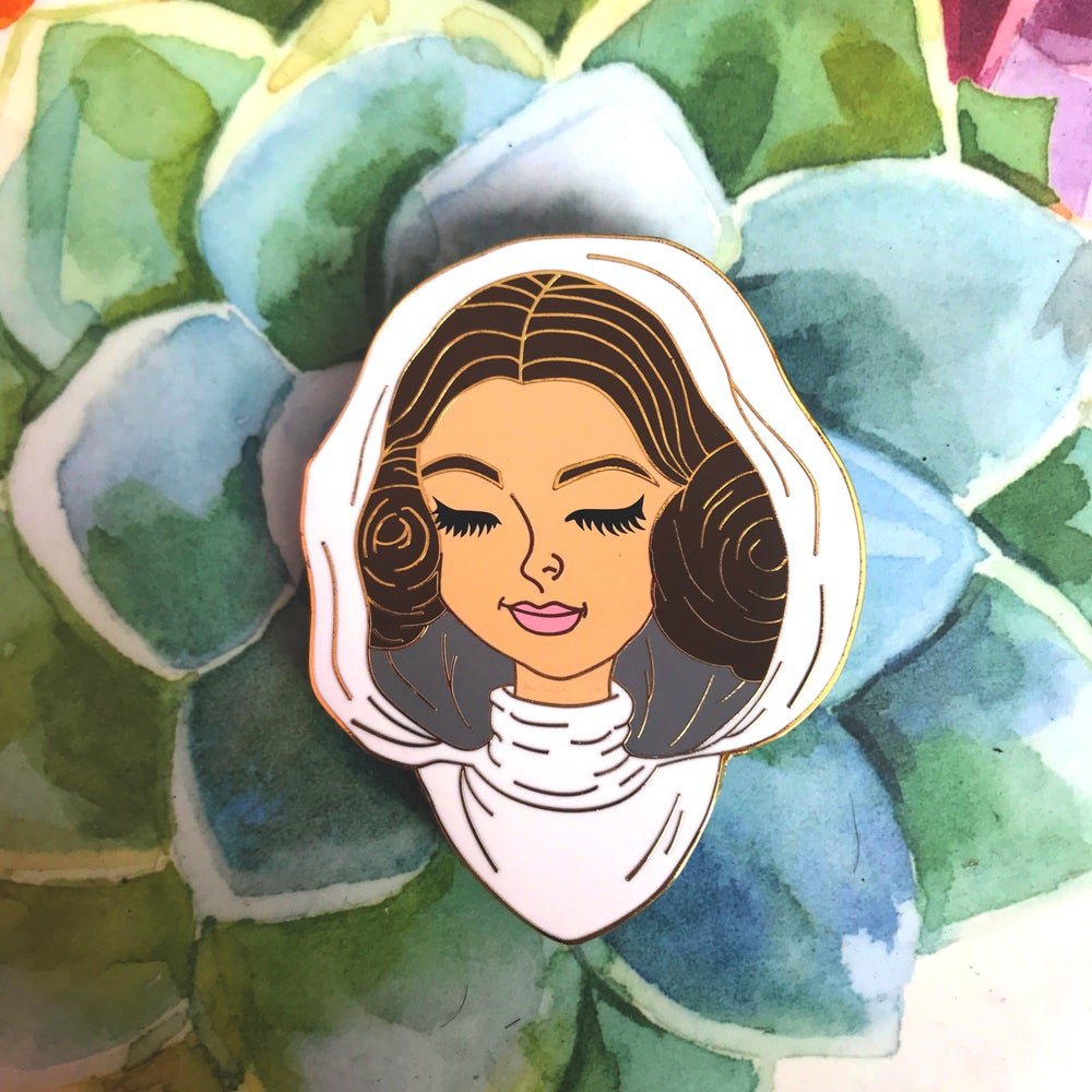 Image of Leia Organa (Space Buns)  Enamel Pin