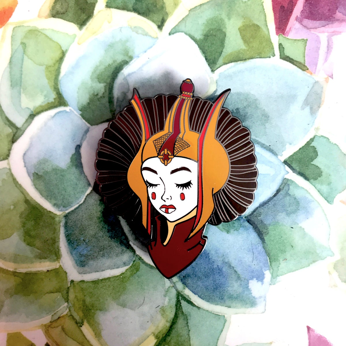 Image of Padme Amidala Throne Room Enamel Pin