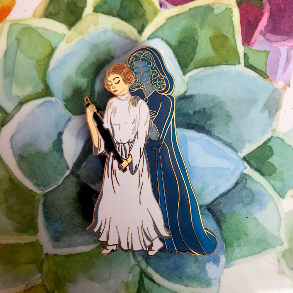 Image of Padme and Leia Enamel Pin