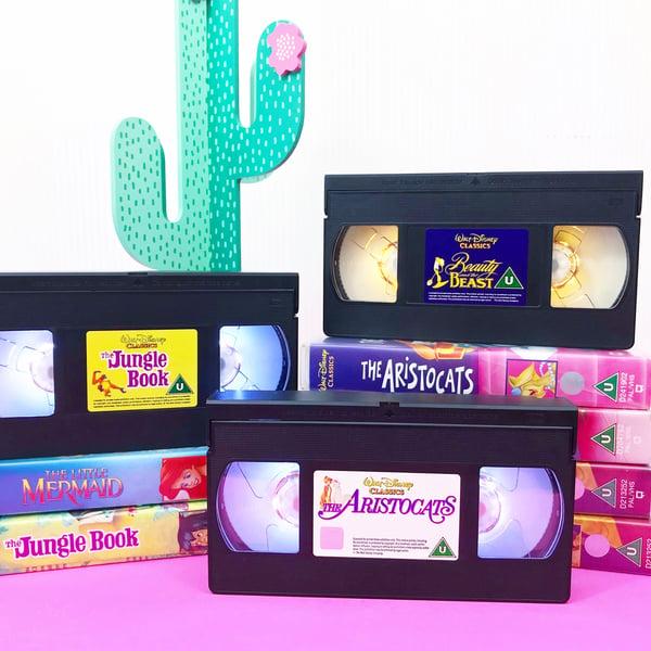 Image of Retro Disney VHS Light