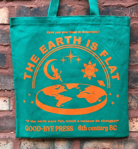 Image of 'THE EARTH IS FLAT' Canvas Tote Bag