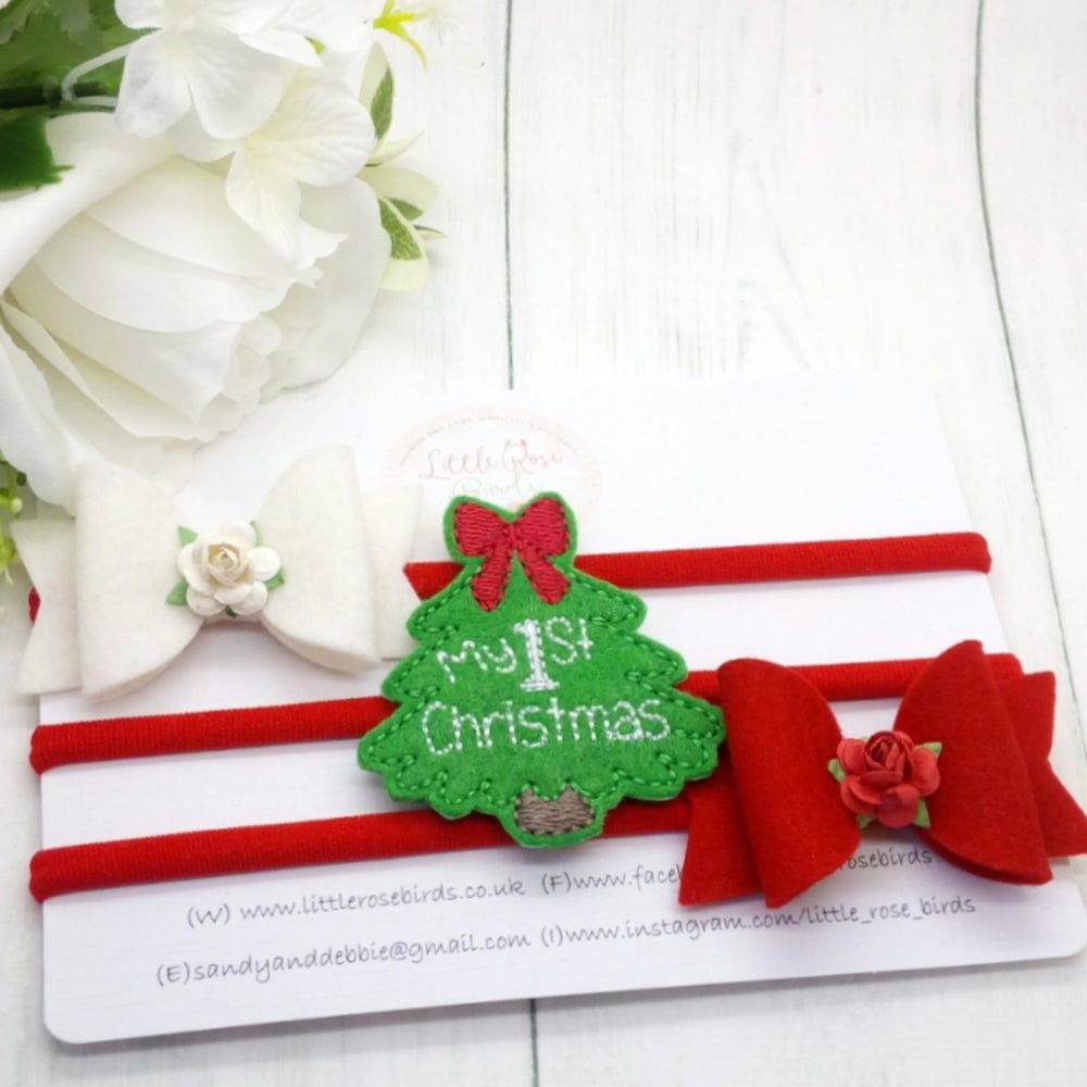 Image of My First Christmas Bows Gift Set