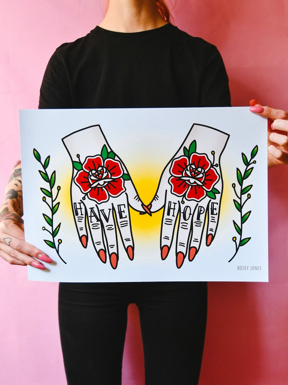 Image of Print Hands - Have Hope II