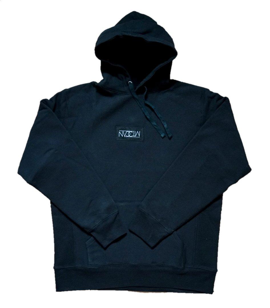 Image of NVCTM Box Logo Hoodie Black