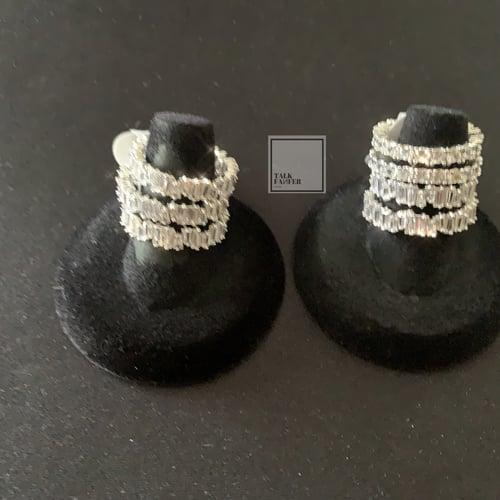 "Image of ""ELSA""Platinum Baguette Ring"