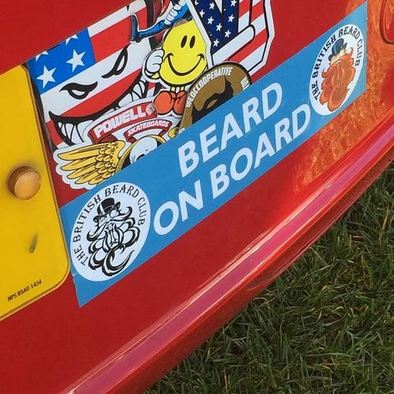 Image of The British Beard Club Beard On Board Rear Window Sticker