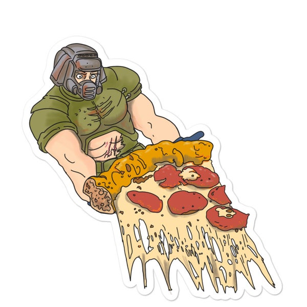 Image of Doom Pizza Sticker