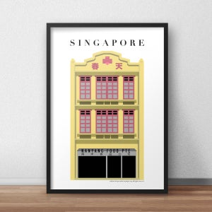 Image of Singapore Shophouse Yellow