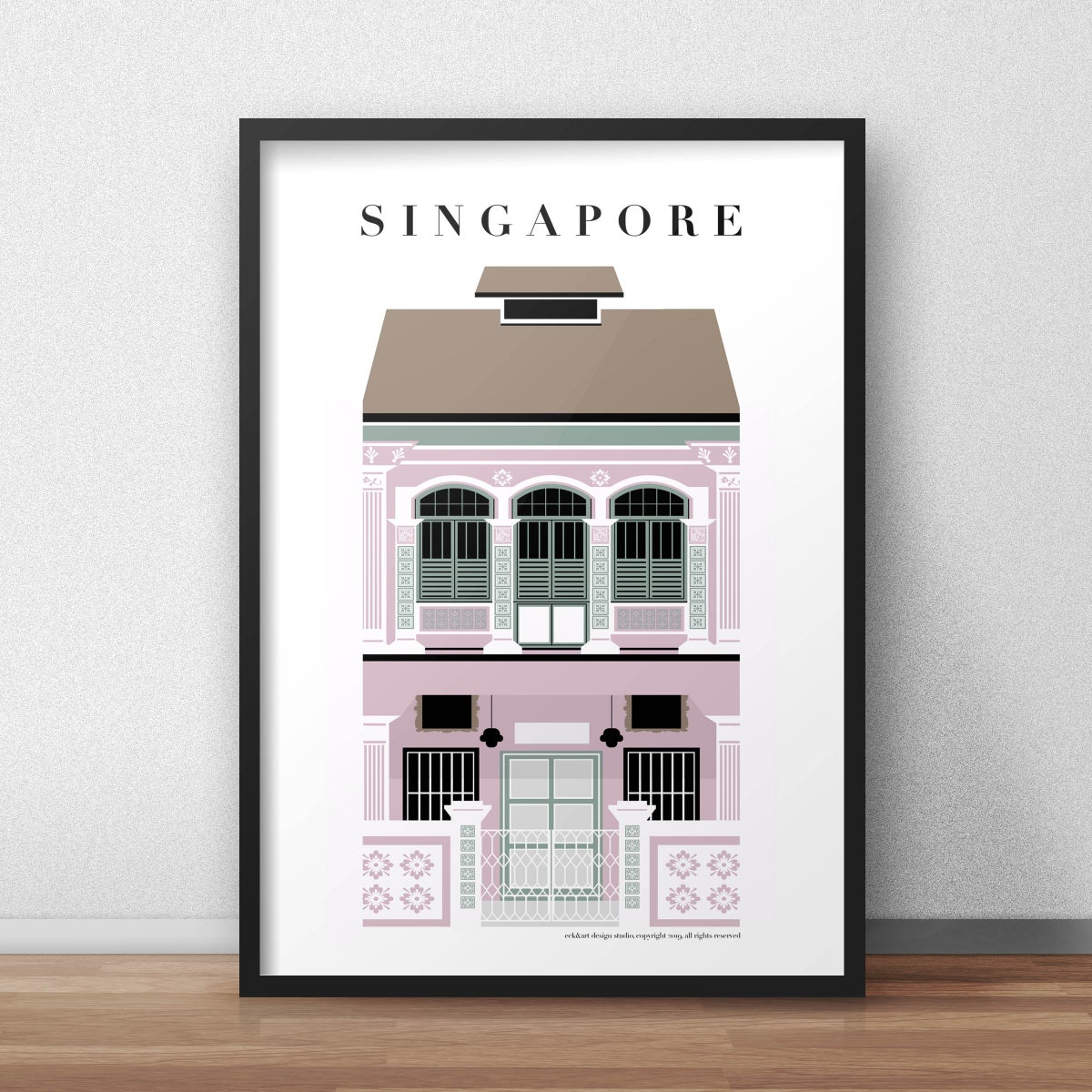 Image of Singapore Shophouse Pink