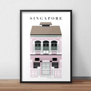 Image of Singapore Shophouse Pink