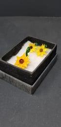 Sunflower earrings and pendant set