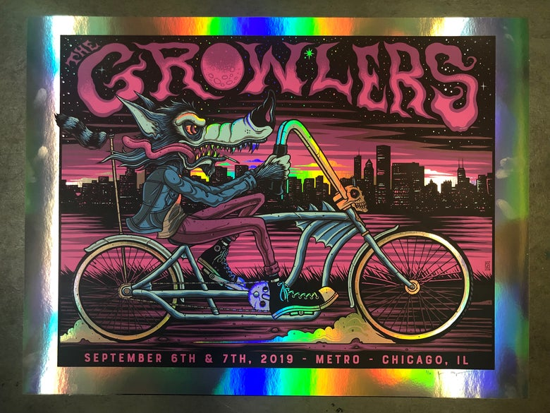 Image of The Growlers - Chicago, IL - September 6-7, 2019 - Rainbow Foil Variant
