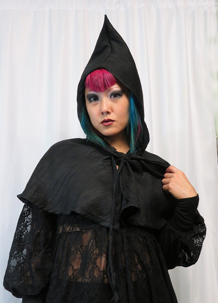 Image of Pointy Linen Cape Hood