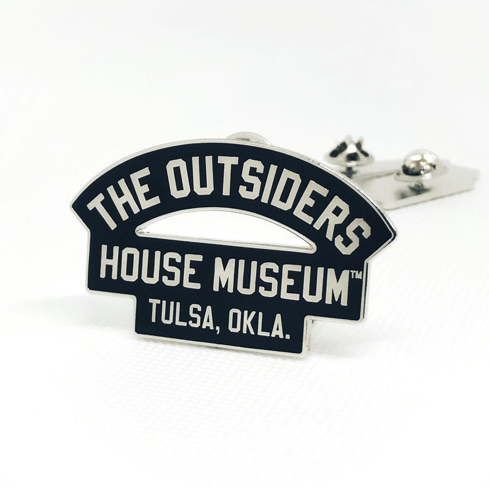 Image of The Outsiders House Museum Arch Logo Pin