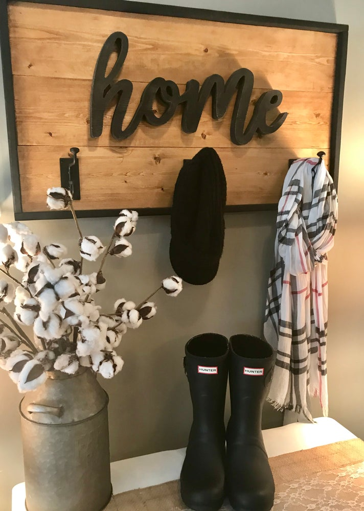"Image of ""Home"" Coat Rack"