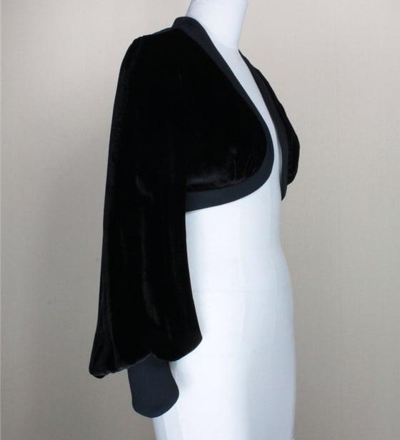 Image of Noir Velvet Leone Bolero Jacket