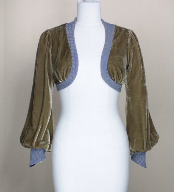 Image of Tan and Violet Leone Bolero Jacket