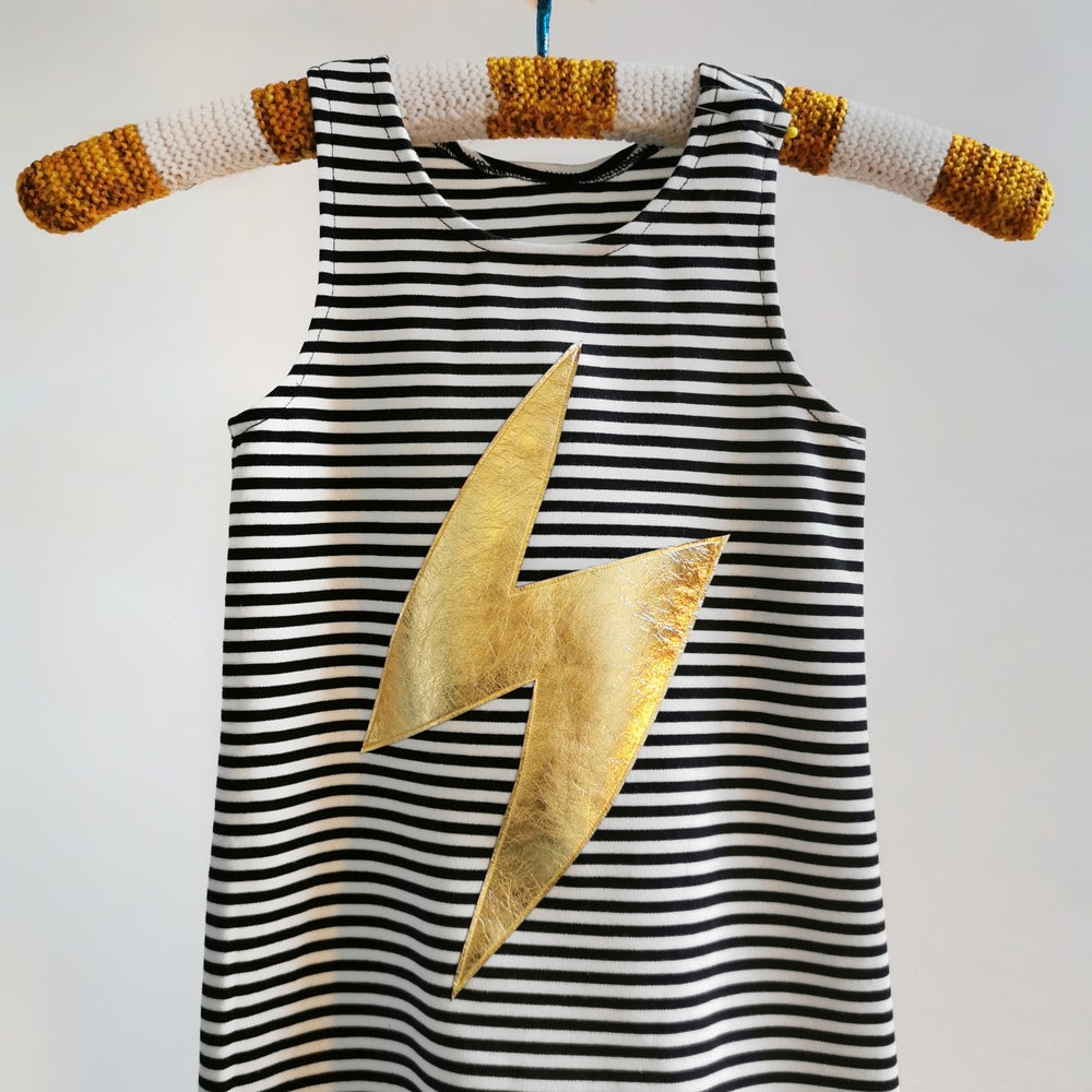 Image of BOWIE romper on stripe