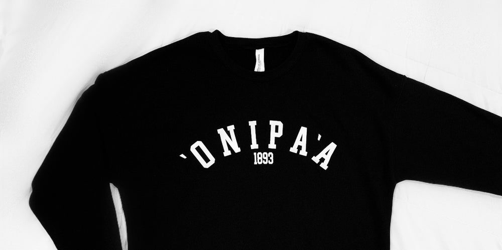 ʻONIPAʻA • UNISEX FLEECE SWEATSHIRT BLACK