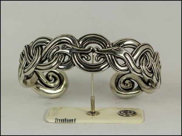 Image of Kissing Dragons Open Bracelet