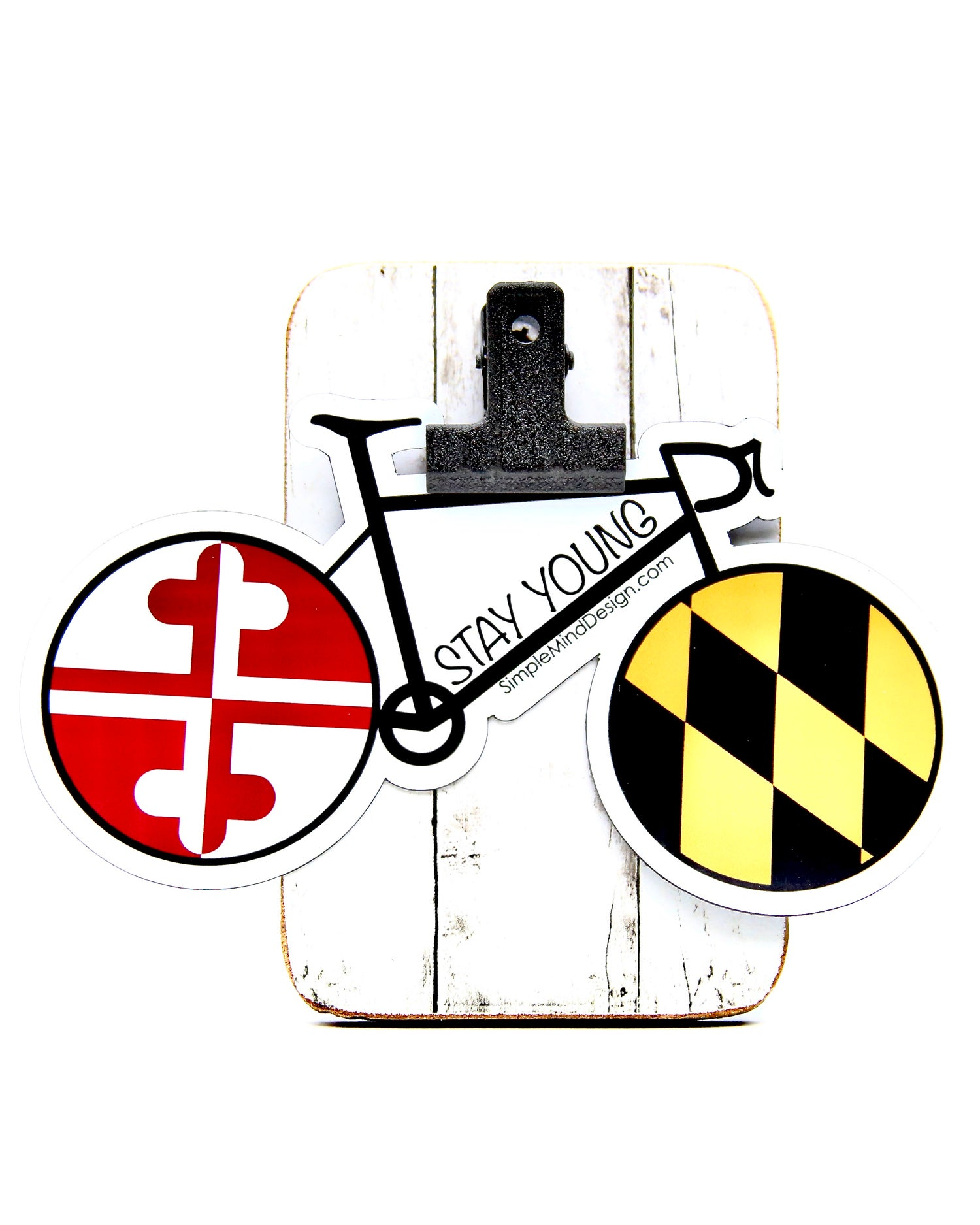 Image of Stay Young Maryland Bike Magnet