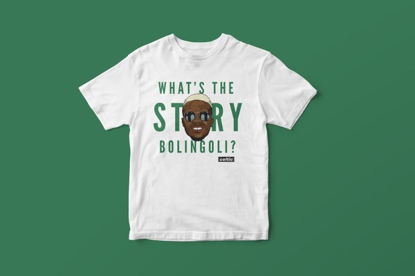 Image of What's the story Bolingoli? t-shirt