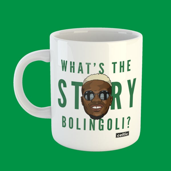 Image of What's the story Bolingoli? mug