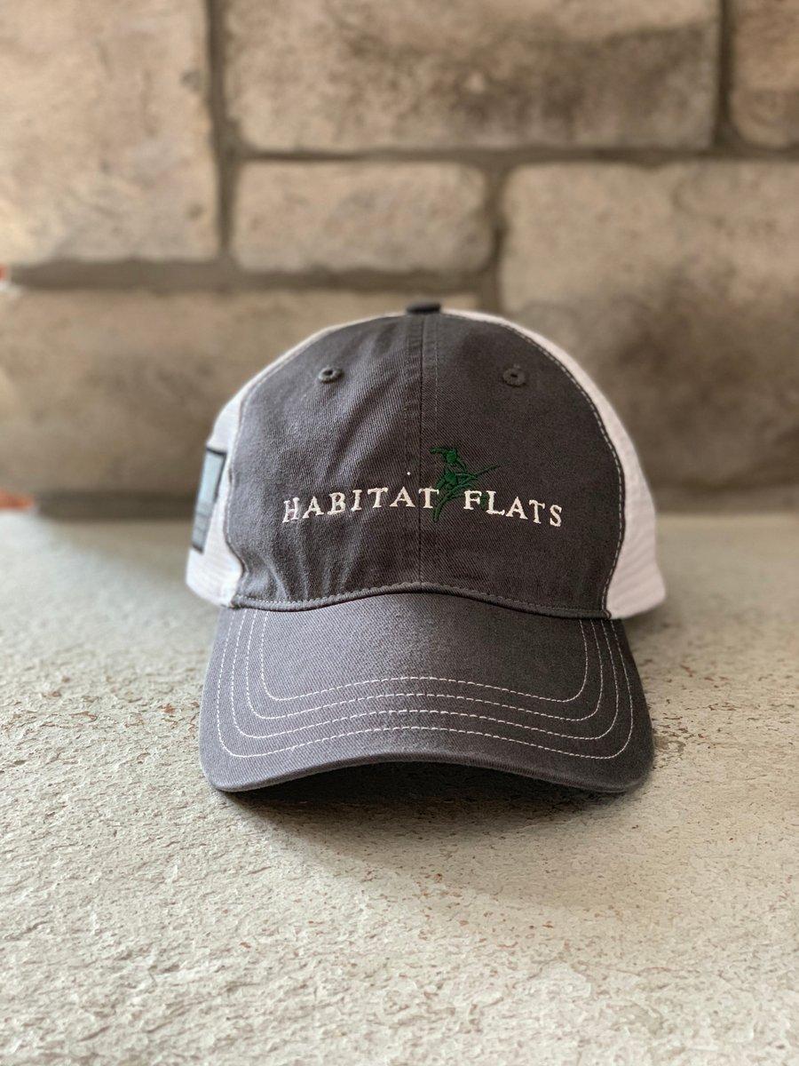 Image of Habitat Flats Richardson Charcoal/White Hat