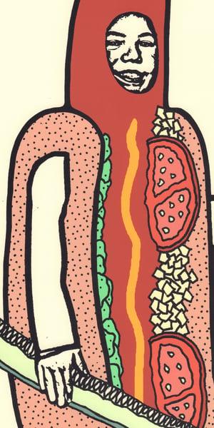 Image of Chicago Hotdog Screen Print