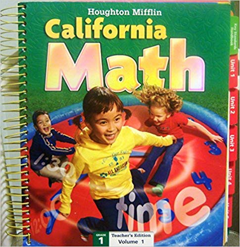 Image of Teacher Edition 1st Grade Houghton Mifflin California Mathematics