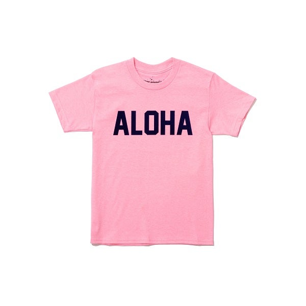 Image of ALOHA TEE SOFT PINK AND NAVY