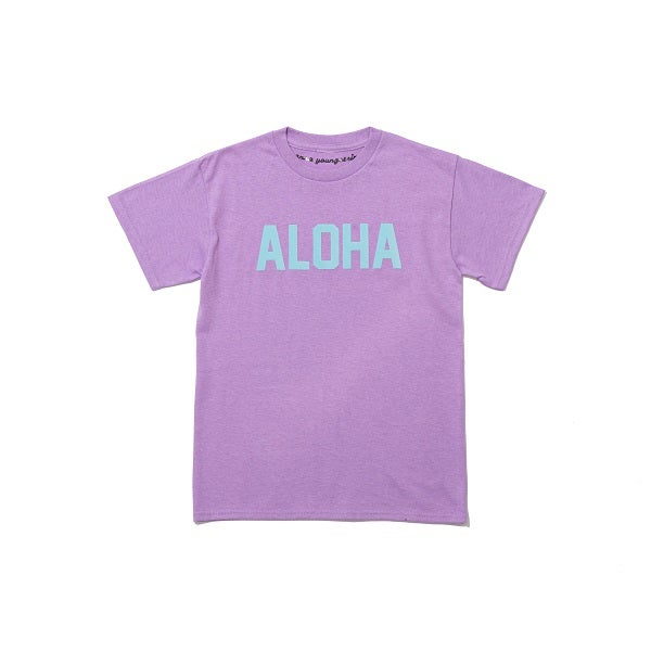 Image of ALOHA TEE LILAC AND BABY BLUE