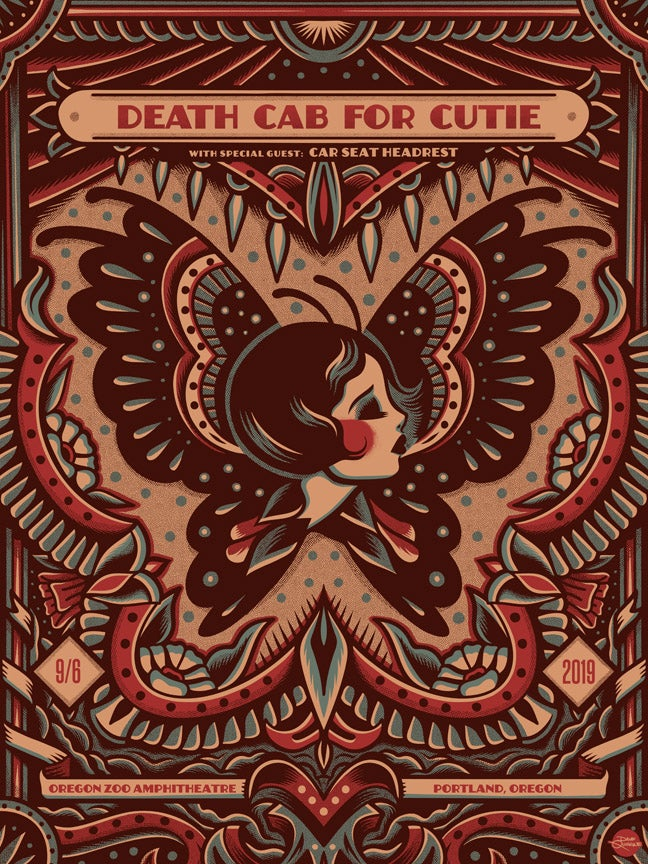 Image of Death Cab For Cutie - Portland 2019 - Poster