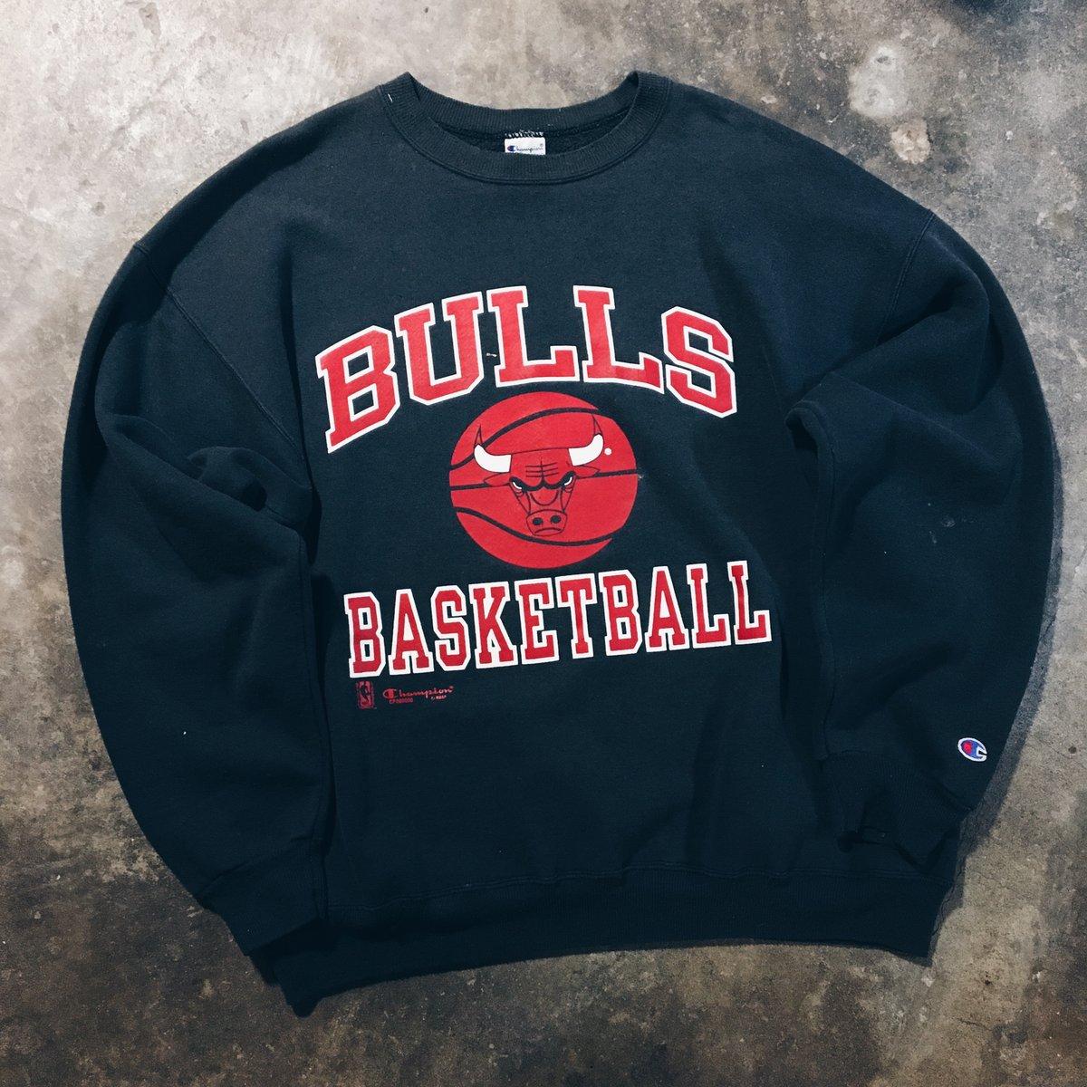 Image of Original 90's Made In USA Champion Chicago Bulls Crewneck Sweatshirt.