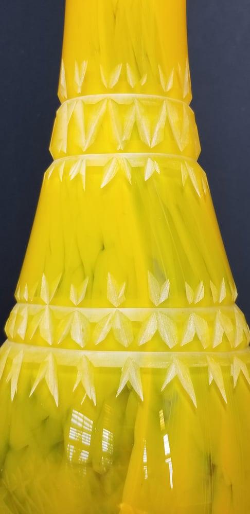 Image of Cut Saffron vase