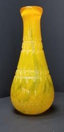 Cut Saffron vase