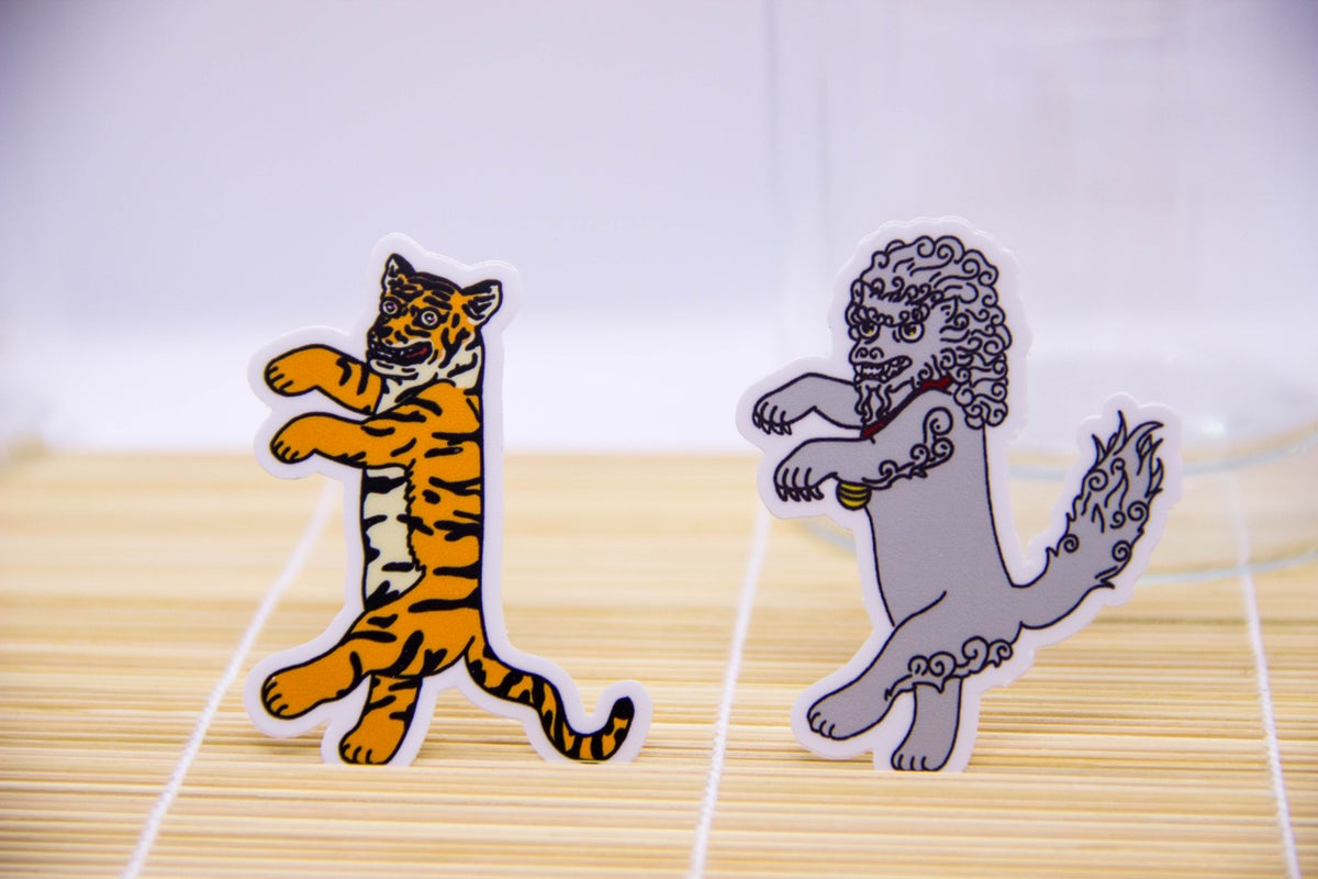 Image of Tiger + Lion Stickers